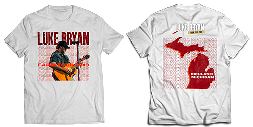 Luke Bryan Farm Tour Richland, MI T-shirt