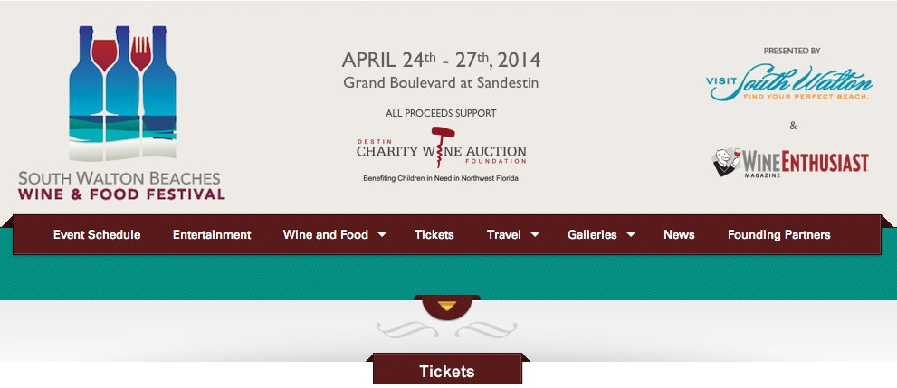 sowal2014 header1 South Walton Beaches Wine & Food Festival 2014